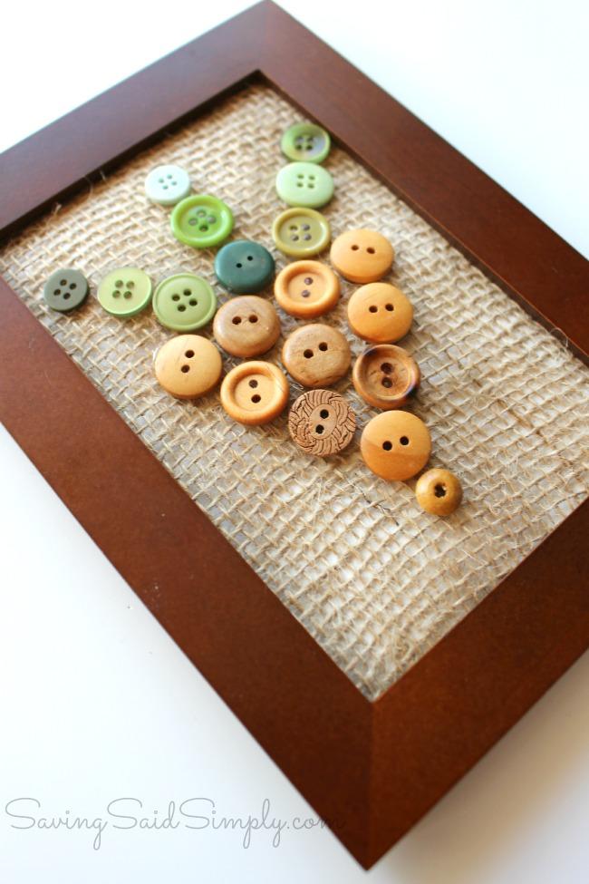 Button art craft spring
