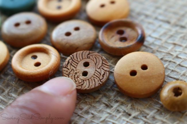 Button carrot craft