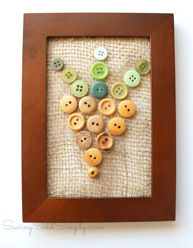 Carrot button art craft