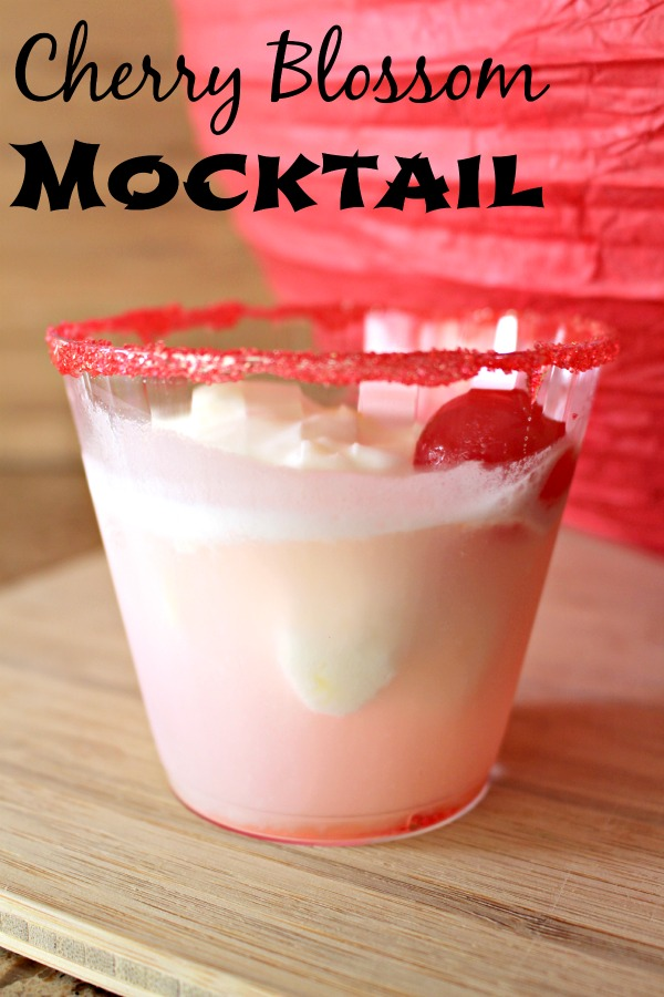 Cherry Blossom Mocktail Drink Recipe | Great for Parties #Disneyside