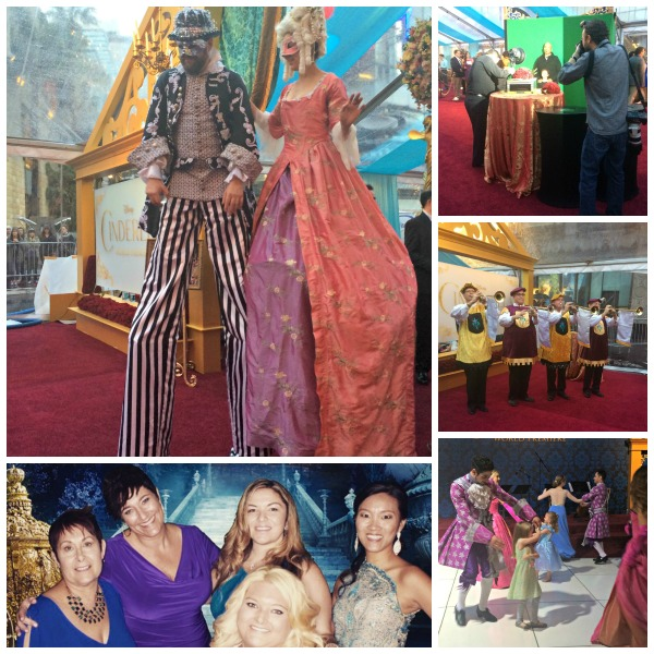 Cinderella movie premiere reception