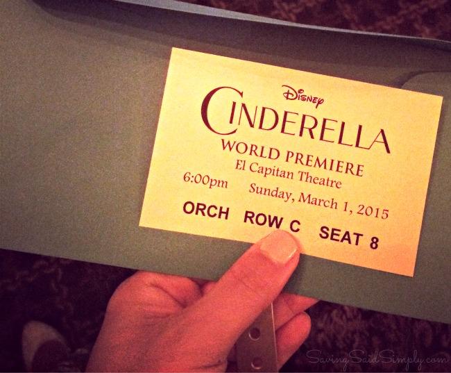 Cinderella premiere ticket
