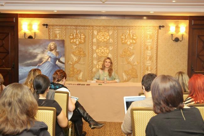 #CinderellaEvent Lily James interview