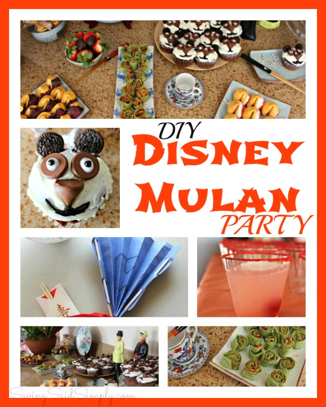 DIY Disney Mulan party