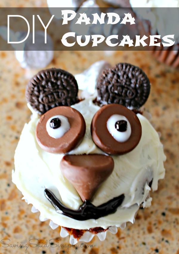 DIY panda cupcakes