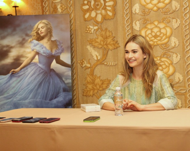 Disney Cinderella interview Lily James