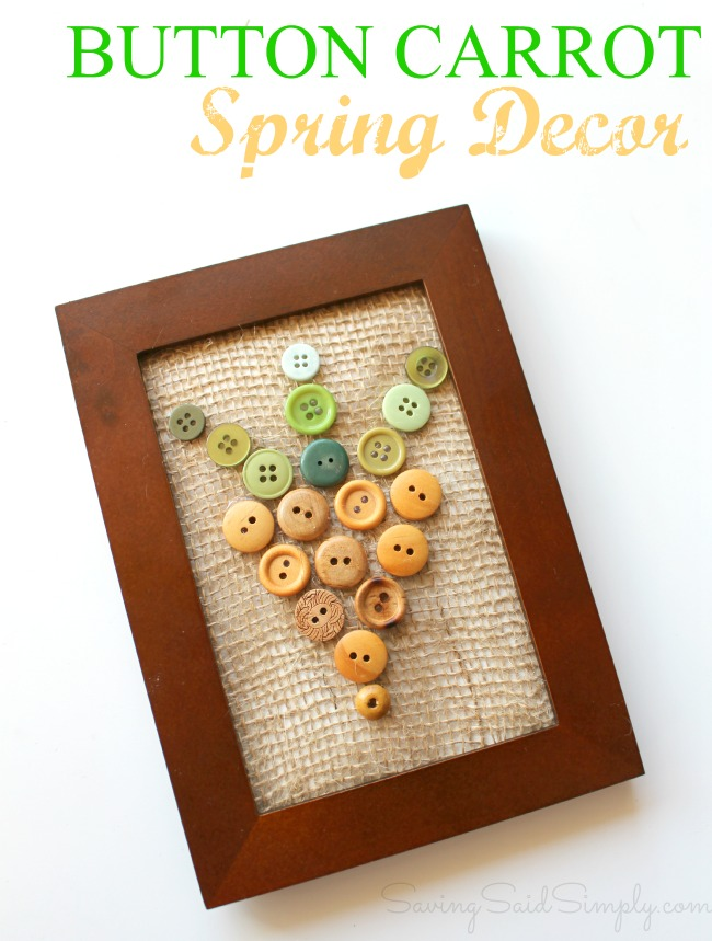 Easy spring decor carrot craft