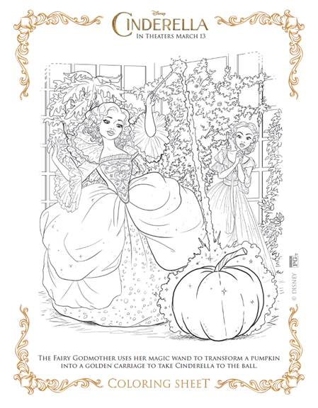 23 Disney Princess Cinderella Coloring Pages for Girls - Print ... | 576x449