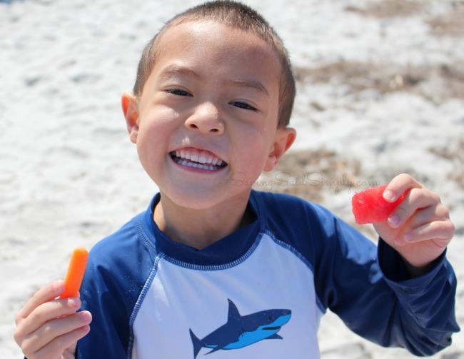 Kids beach food