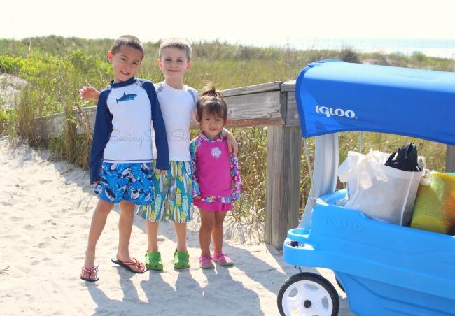 Kids beach wagon
