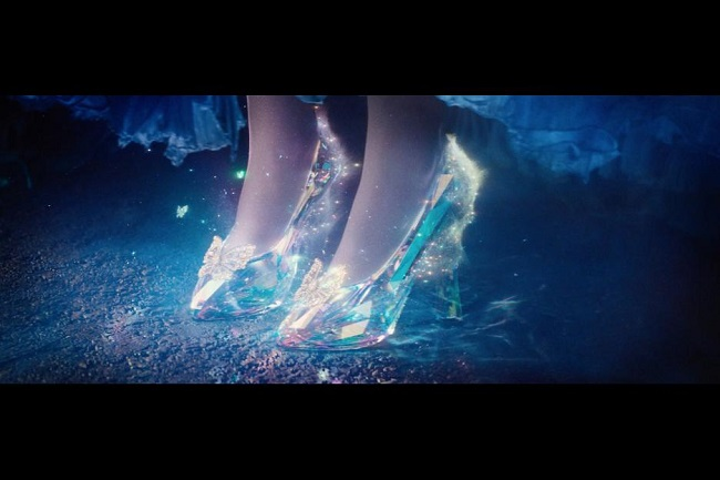 Lily James glass slippers