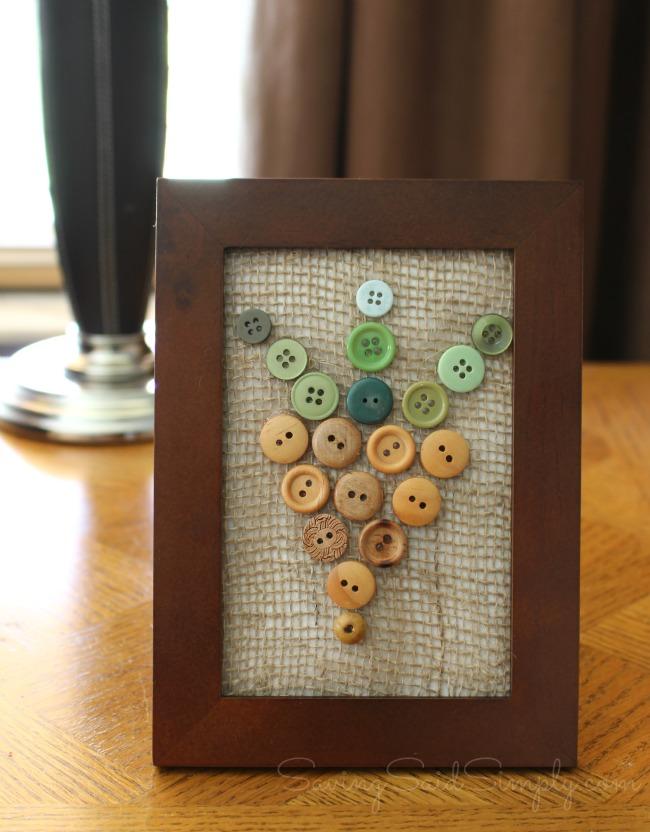 Spring decor button art