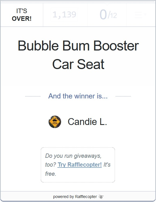 Bubble bum giveaway 4-15