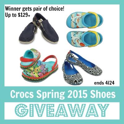 Crocs shoes giveaway spring 2015