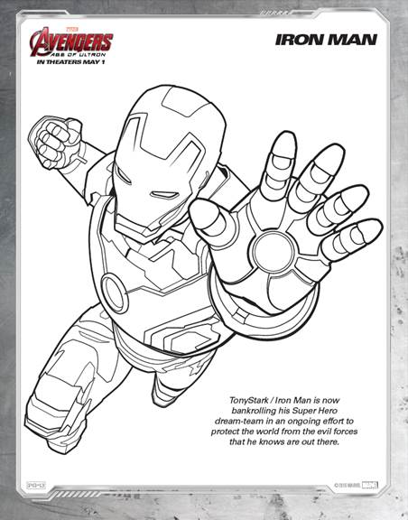free avengers age of ultron coloring pages - Avengers Coloring Pages Printable