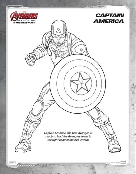 Coloring Pages Avengers Ultron : Free avengers age of ultron printable coloring sheets