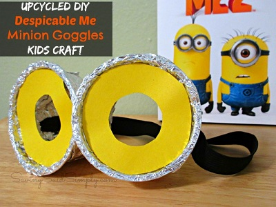 Minion goggles craft upcycle