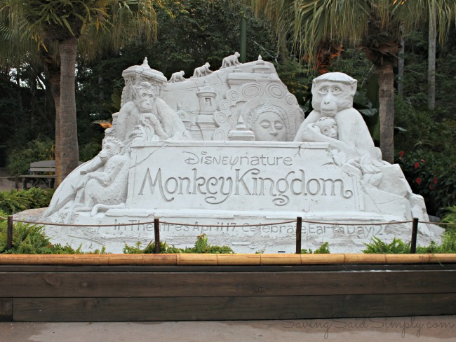 Monkey kingdom sand sculpture Disney