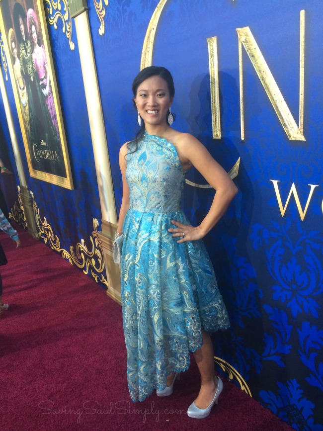 Red carpet dress Cinderella movie