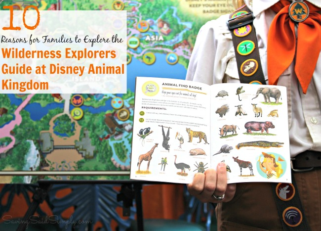 Wilderness explorers guide at Disney animal kingdom