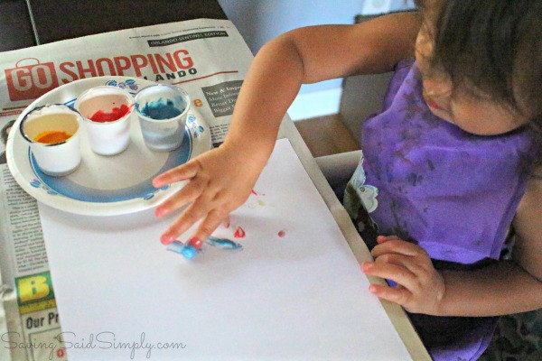 DIY finer paint toddlers
