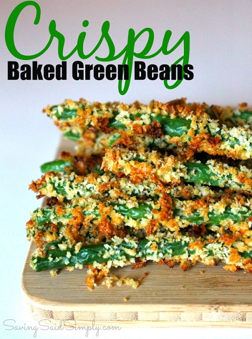 Baked green beans appetizer