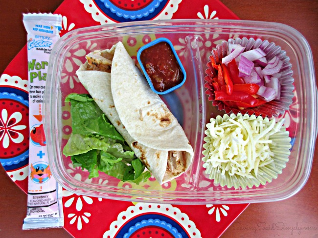 Burrito lunchbox idea