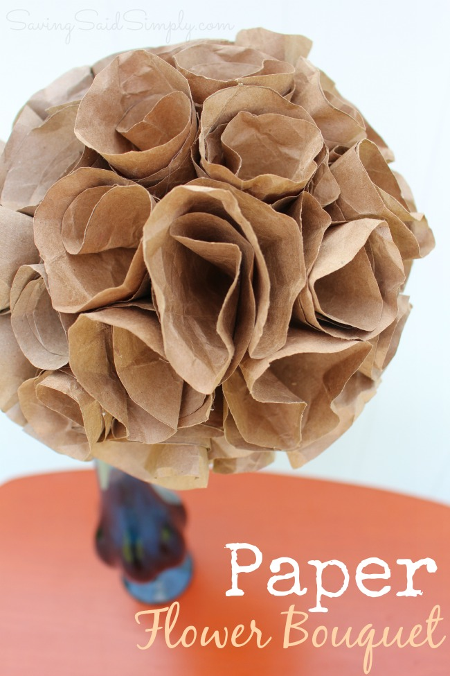 Diy paper flower bouquet perfect mothers day craft diy paper flower bouquet mightylinksfo