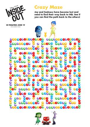 Free Pixar Inside Out Printable Coloring