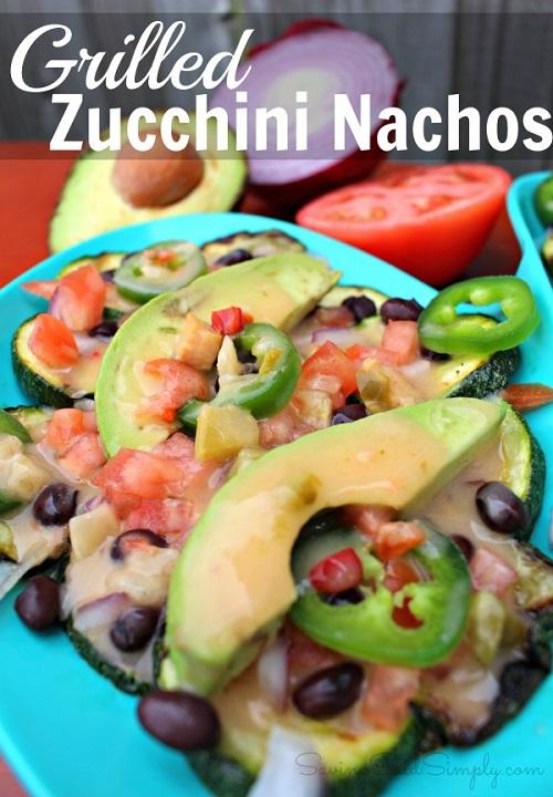 Grilled zucchini appetizer