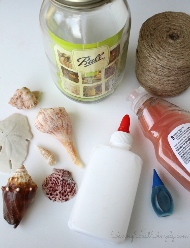 How to make sea glass candle jar DIY Sea Glass Candle Holder + Sunset Beach Date Idea | Create your own DIY painted sea glass candle holder & the perfect sunset beach date kit this summer #Craft #DIY #SummerDIY