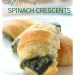 Spinach crescents recipe pinterest