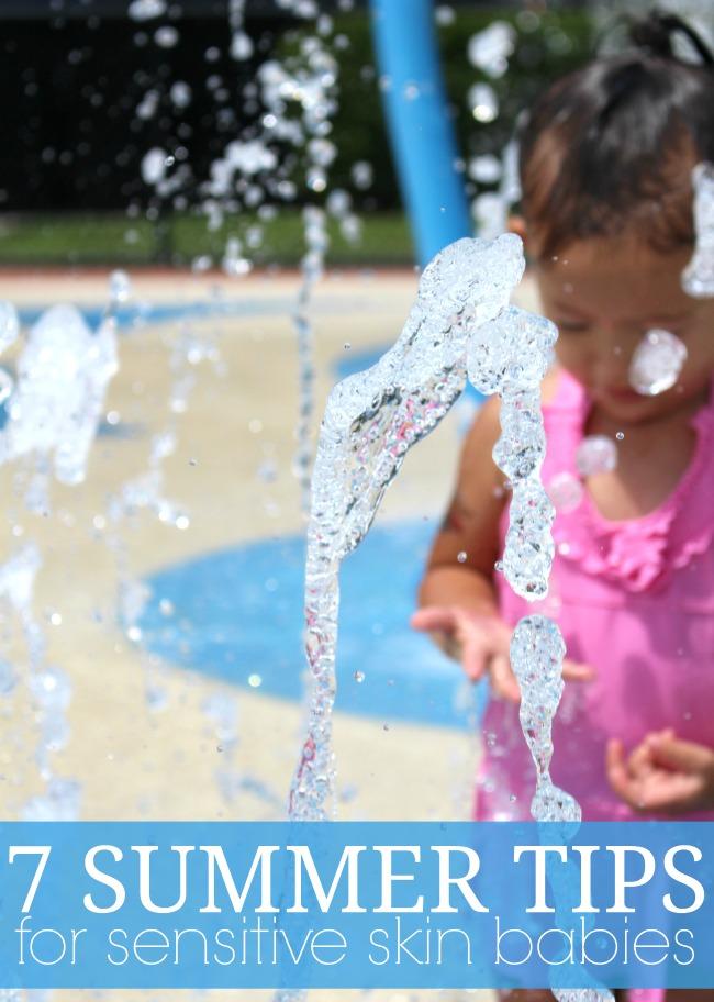 Summer tips for sensitive skin babies