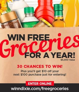 Winn Dixie Free Groceries Sweepstakes & Rare Coupon