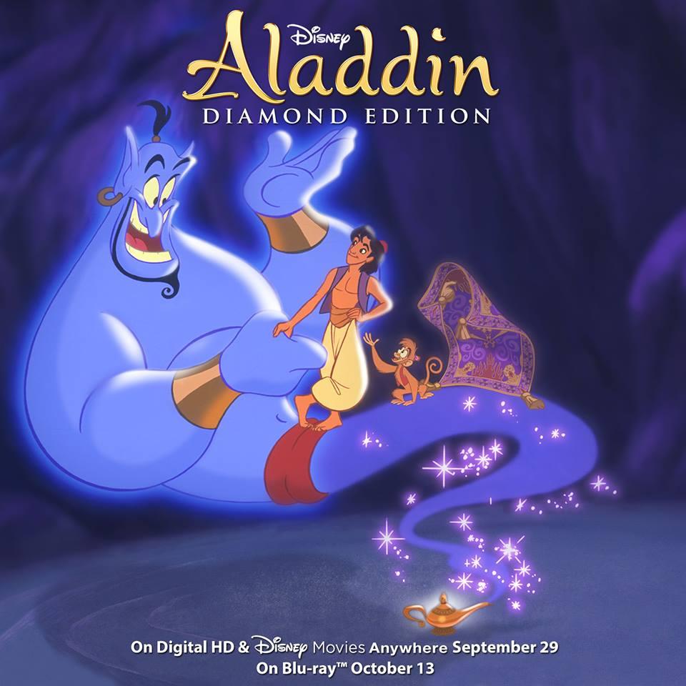 Edition Diamond: Disney Aladdin Diamond Edition On Blu-Ray October 2015