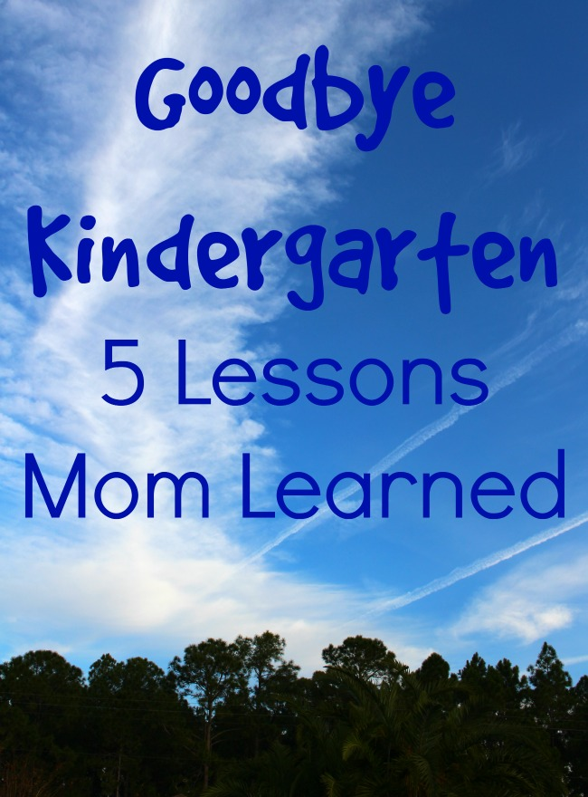 Goodbye kindergarten