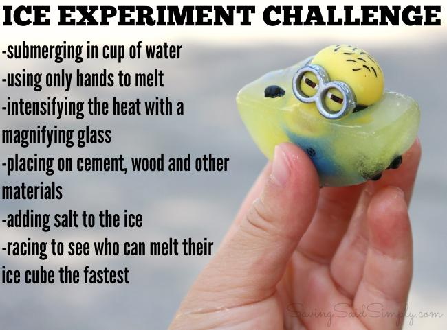 Kids ice experiment ideas