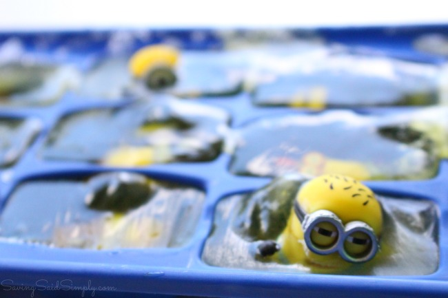 Kids ice experiment minions