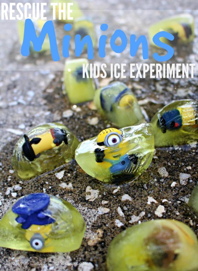Minions kids activity fun ice experiment