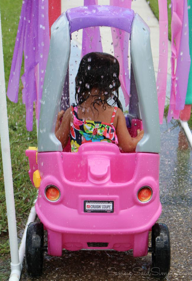 DIY car wash for kids