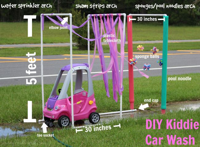 DIY car wash kids pvc