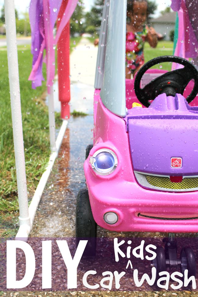 DIY kids car wash