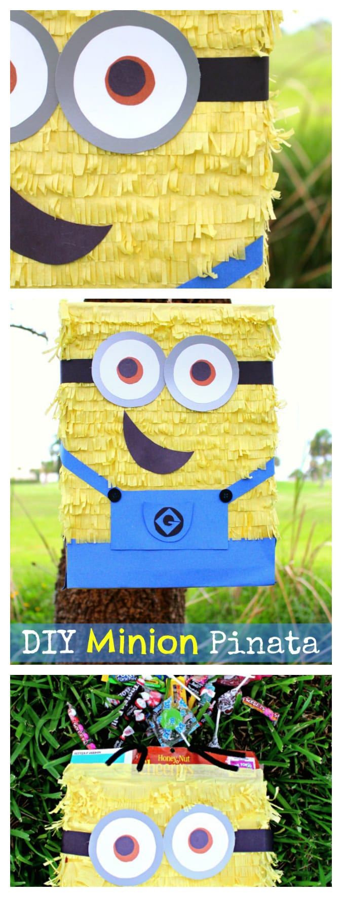 DIY minion pinata pinterest DIY Minion Pinata | Great ready for the new Minions Movie with this easy DIY Minions Pinata! Frugal Despicable Me party idea for the kids #PartyPlanning #Minions #KidsParty