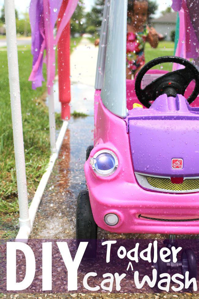DIY toddler car wash
