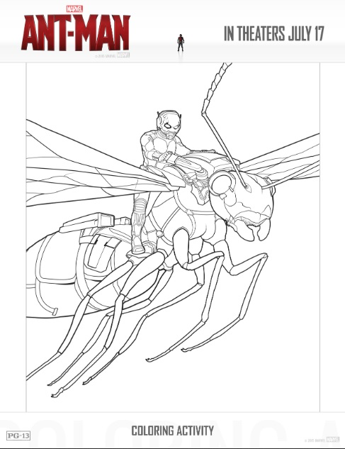 Free Ant Man Printable Coloring Sheets Games AntMan