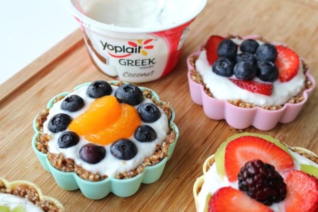 Greek yogurt fruit tarts