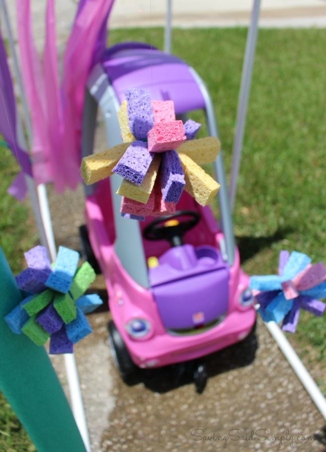 Kiddie car wash diy