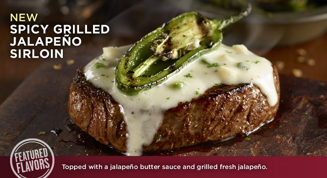 Longhorn steakhouse spicy grilled jalapeno sirloin