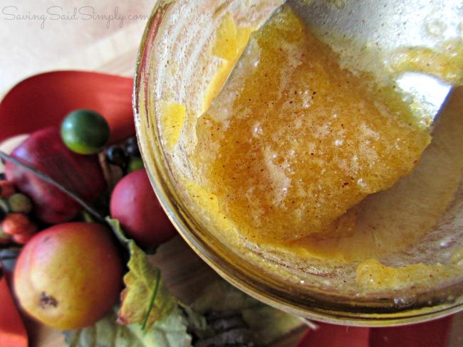 Pumpkin sugar scrub homemade
