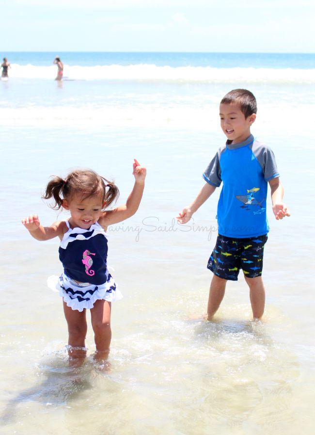 Sun protection swim kids